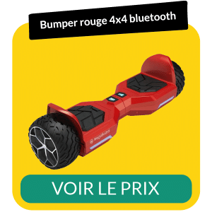 hoverboard bumper 4x4 bluetooth rouge
