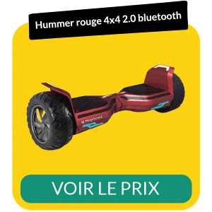 hoverboard hummer rouge 2-0 4x4 bluetooth