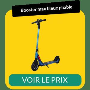 Trottinette electrique pliable booster max bleue