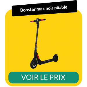 Trottinette electrique pliable booster max noir