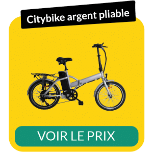 Velo electrique pliable citybike argent