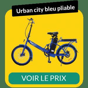 Velo electrique pliable urban city bleu
